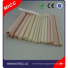 90 95 99 99,7% 99,8% al2o3 porösen Aluminiumoxid Keramikrohr mit Fabrikpreis
