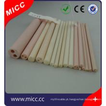 90 95 99 99,7% 99,8% al2o3 poroso tubo de cerâmica de alumina com preço de fábrica