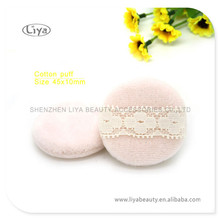 Maquillage populaire éponge coton cosmétique de pouf pouf avec diverse couleur