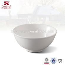 Cuenco de china de hueso de porcelana, cuencos de cereales profundos cuencos de porcelana blanca