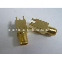 sma femelle inverse droite type PCB aluminium feuille connecteur