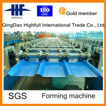 High Efficiency Metall gefärbte Dachziegel Roll Forming Machine