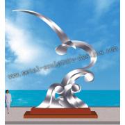 escultura artes del acero inoxidable para la decoración de la ciudad