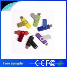 Em Stock Swivel OTG USB Flash Drive com amostra grátis