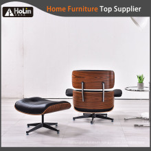 Popular Design Leather Wooden Charles Emaes Lounge Chair