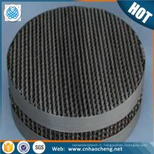maille métallique d'emballage structurée d'acier inoxydable / treillis métallique d'emballage de colonne de distillation
