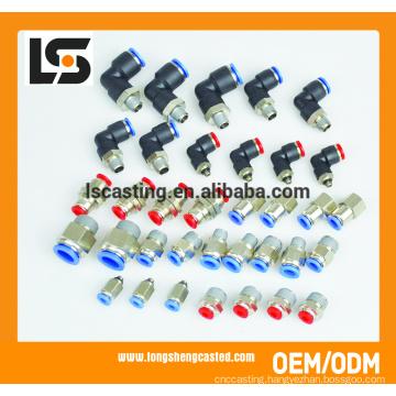 Various Carbon Steel Plastic Tube Pneumatic Fittings
