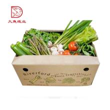 Boîte de légumes de réfrigérateur en carton ondulé en gros de taille personnalisée de haute qualité