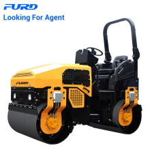 3 Tons Vibration Smooth Tandem Road Roller With Water Cooling Diesel Engine