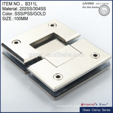 Concealed Furniture Hydraulic Glass Door Hinge