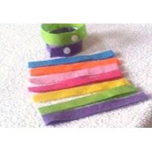 Bandes de moustique de poignet de bracelet d'huile d'anti-moustique de micro-fibre pour le bébé