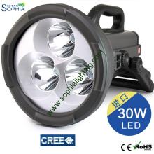 De alta potencia 30W CREE LED Search Rescue Light Disaster Relief Lámparas de mano Linterna