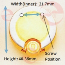 Zink-Legierung Metallhandtasche runder Kreis Fallschloss
