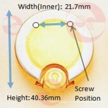 Bolso de aleación de zinc de metal redondo círculo caso de bloqueo