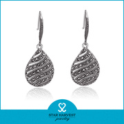 Fashion Costume Silver Earring Jewellery Design (E-0216)