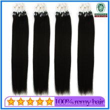 18 Inch Silky Straight Brazilian Virgin Micro Loop Ring Hair Extension Human Hair Virgin Remy Hair