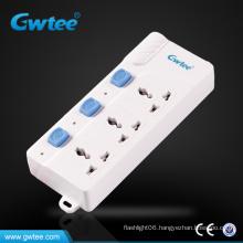 hot sale Universal electric multi plug floor socket power strips