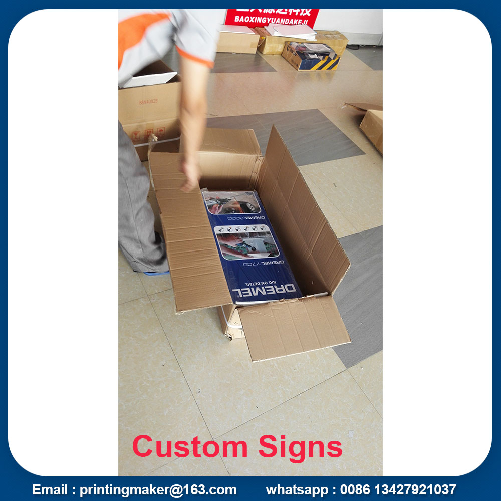 printed sign board