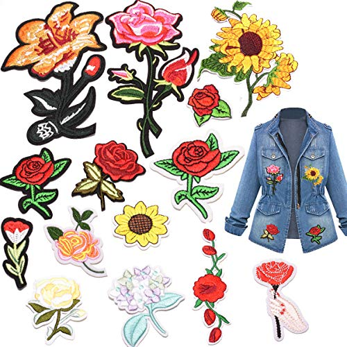 flower embroidery patch