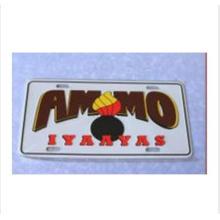 Placa de impresión de aluminio de diseño original para el coche
