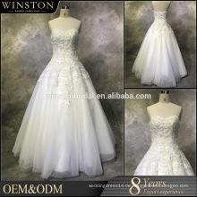 Beste Qualität Verkäufe für Brautkleid eine Linie v Ansatz Fußbodenlänge