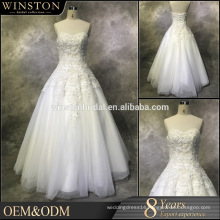 Best Quality Sales for bridal dress a line v neck floor length