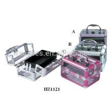 caja acrílico cosméticos de alta calidad con una bandeja dentro del fabricante de China