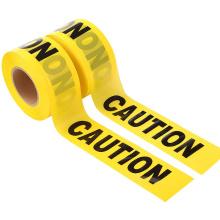 Aviso de logotipo sem adesão Fita amarela de proteção do rolo de barreira PE amarela