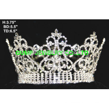 crystal full round crown tiara