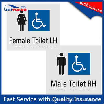 Custom Made Plastic Male / Feminino Toilet Braille Sinal