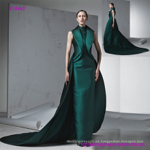 Nuevo estilo moderno vestido sin mangas estilo baile de fin de curso con cóctel trailing