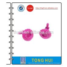 Manschettenknopf mit 3D-Qualität und rosa Farbgestaltung