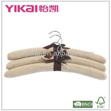 Hight qualidade algodão acolchoado cabides