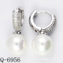 Latest Styles Cultured Pearl Earrings 925 Silver (Q-6956)
