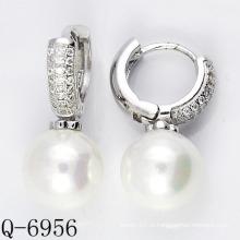 Последние стили Культурная жемчужина Серьги 925 Серебро (Q-6956)