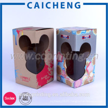 Corrugated paper with clear window custom logo toy packaging box