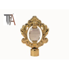 (Golden Crystal Curtain Cap for Home Decoration (TF 1619