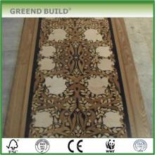 Enter corridor art wood floor
