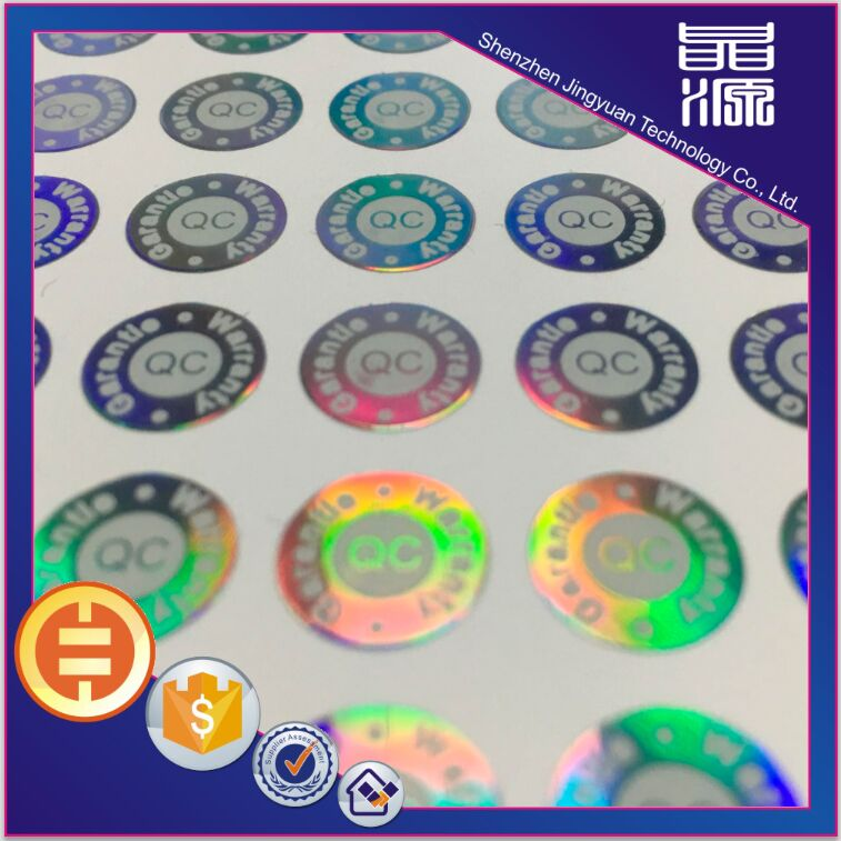 Custom waterproof feature hologram 3d sticker label