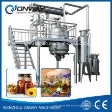 La industria del acero inoxidable Tq florece aceite de aceite esencial máquina