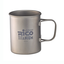 Taza de pared simple de titanio 450ml