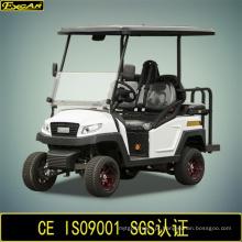 Carro de golfe elétrico de 4 lugares com assento traseiro flip-flop