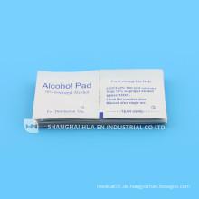 Mit CE & FDA & ISO Zertifikat für hochwertige medizinische Alcohol Pad