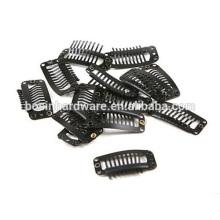 Мода Высокое качество металла черные волосы небольшой парик клип