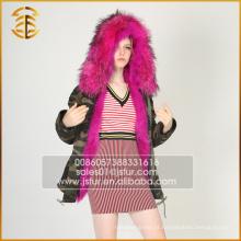 Fábrica Direta Preço Preço Brand Jacket Long Green Fox Fur Parka