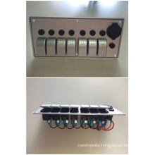 7 Gang 12V 24V Aluminum LED Rocker Switch Panel with Circuit Breakers