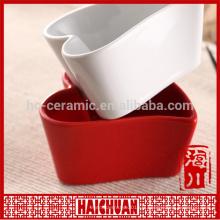 Céramique Vaisselle ustensiles de cuisine céramique plaque blanc