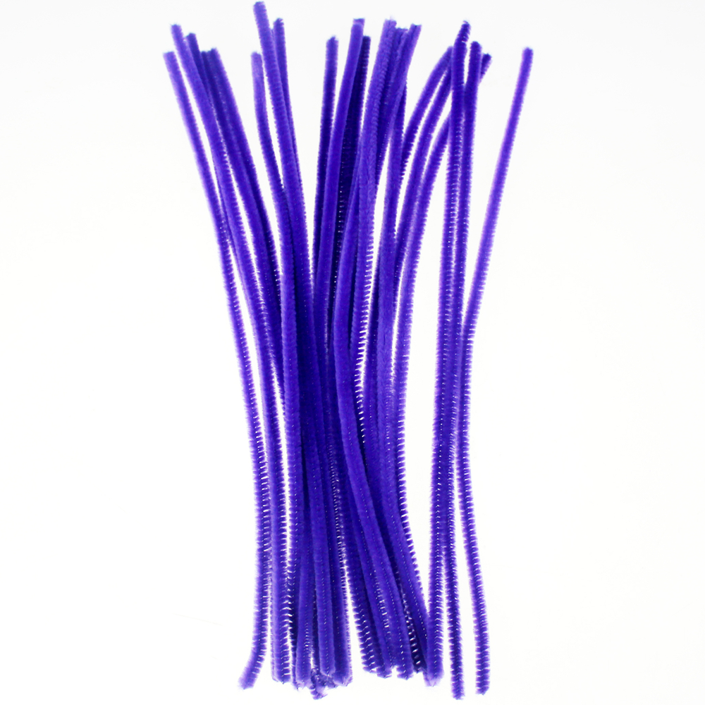 DIY Pipe Cleaners chenille stem chritmas decoration purple assorted