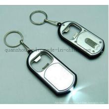 OEM металла светодиодные открывалка для бутылок Брелок Брелок кольцо цепи