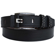 Man's classical black fashion PU belt
